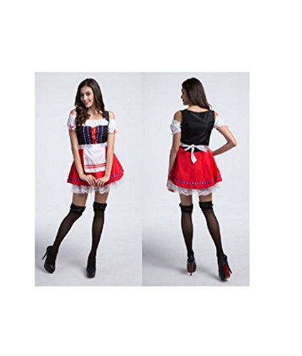 FCCO Halloween Oktobefest Beer Girl Bavarian Bar Maid Costume