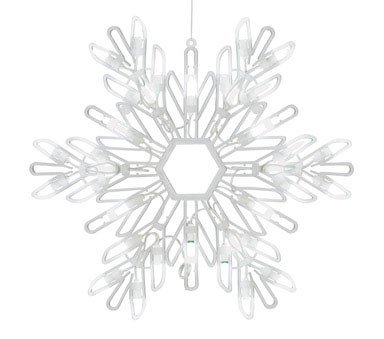 Celebrations Lighting Led Snowflake Silhouette 15""