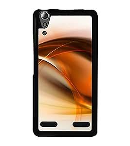 Orange Fluid Pattern 2D Hard Polycarbonate Designer Back Case Cover for Lenovo A6000 Plus :: Lenovo A6000+ :: Lenovo A6000