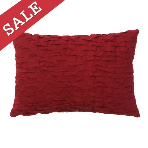Modern Living Abigail Red Pleat Decorative Pillow, 14 By 20-Inch front-898559