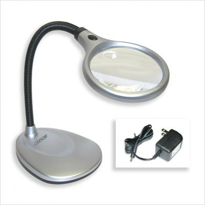 Carson LM-20 2X LED Illuminated Magnifier & Desk Lamp