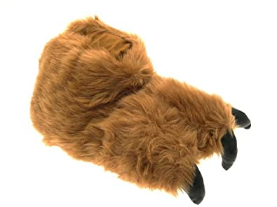 NEW MENS BOYS LADIES GIRLS NOVELTY PLUSH SLIPPERS BOOTS MONKEY FACE APE / WOLF FACE / MONSTER CLAW XMAS GIFT SIZE UK 7-12