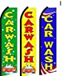 Car Wash Standard Size Swooper Feather Flag Sign Pk of 3