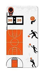 CimaCase Basketball Designer 3D Printed Case Cover For HTC Desire 820