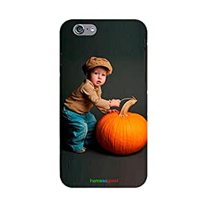 HomeSoGood Pushing The Pumpkin Black Case For iPhone 6 (Back Cover)