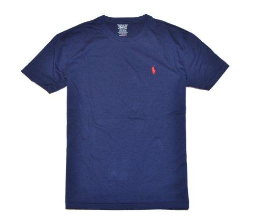 Polo Ralph Lauren Men Pony Logo T-Shirt (Small, Navy)