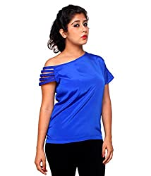 Tryfa Women's Top (Tryfa-154-M_Blue_Medium)