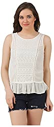Fem&Her Women's Round Neck Top (PP18, Off White, 34)