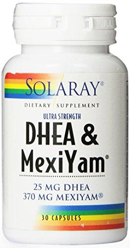 Solaray DHEA et Mexiyam capsules, 5 mg, 30 Count