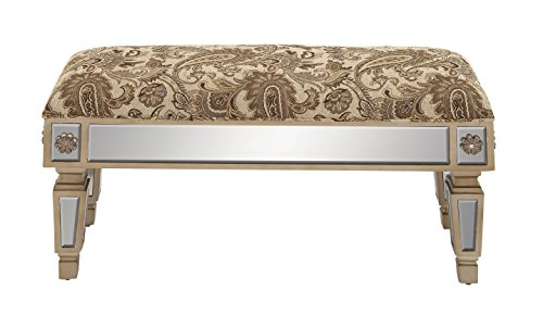 deco-79-wood-mirror-fabric-bench-40-by-18-by-16-inch