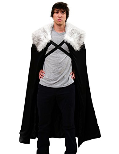 Men's Jon Snow Night's Watch GoT Cosplay Cloak Cape (Game of Thrones Costume)
