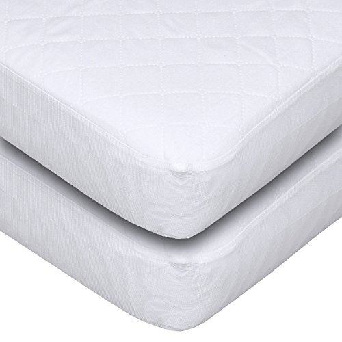 Carter's Keep Me Dry Waterproof Fitted Quilted Crib Pad - 2 Pack (Carter Keep Me Dry Crib Pad compare prices)