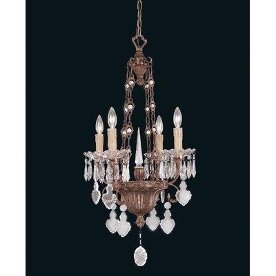 Kronleuchter 4-Flammig Crystal And Bronze
