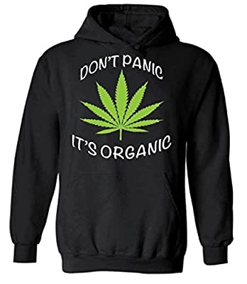 icustomworld Don't Panic It's Organic Hoodie Marijuana Leaf Hooded Sweatshirt