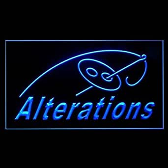de nderungen stricken n hmaschine werbung led licht zeichen blue beleuchtung. Black Bedroom Furniture Sets. Home Design Ideas