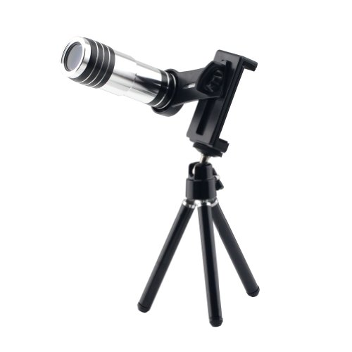 Lemfo Mobile Phone Lens Telescope Camera Universal Tripod Holder 12X Zoom Optical Lens For Iphone 5 5S 5C 4 4S Samsung Galaxy S3 S4 Note 2 3