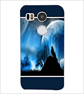 PrintDhaba Night Sky View D-1304 Back Case Cover for LG NEXUS 5X (Multi-Coloured)