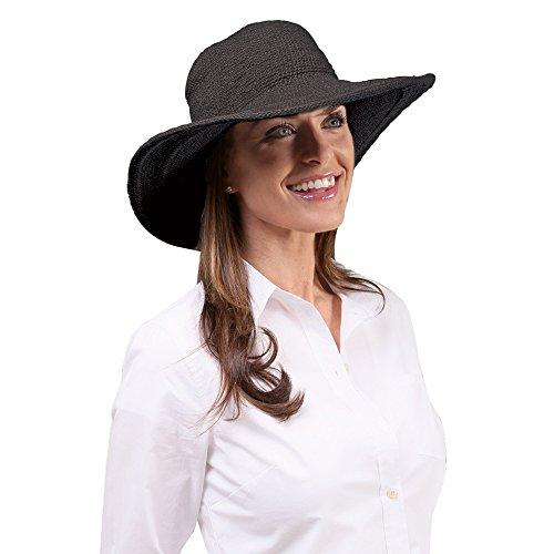 san-diego-hat-womens-cotton-crochet-4-inch-brim-floppy-hat-black-one-size