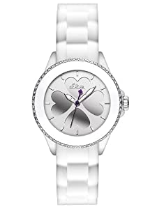 s.Oliver Damen-Armbanduhr XS Analog Quarz Silikon SO-2696-PQ