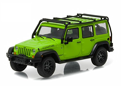 greenlight-2013-jeep-wrangler-unlimited-moab-edition-gecko-green-with-roof-rack-143-scale-vehicle