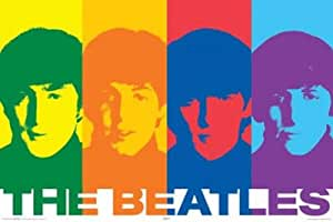 LAMINATED The Beatles (Rainbow) Music Poster Print - 24x36