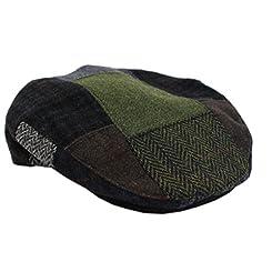Patchwork Cap 100% Wool by Mucros of Killarney