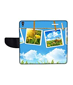 KolorEdge Printed Flip Cover For Lenovo S850 Multicolor - (50KeMLogo11640LenovoS850)