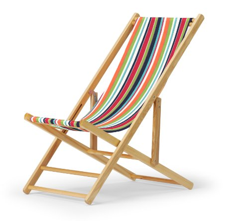 Telescope Casual Cabana Beach Folding Chair, Varnish Frame With Isla Cover