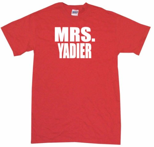 Mrs Yadier Women's Tee Shirt Medium-Red-Regular at Amazon.com