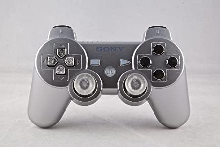 PS3 PLAYSTATION 3 Silver/Chrome Modded Controller (Rapid Fire) COD Black Ops 2 - QUICKSCOPE, JITTER, DROP SHOT, AUTO AIM
