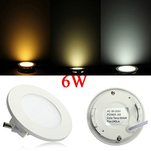 6W Round Ceiling Ultrathin Panel Led Lamp Downlight Light 85-265V