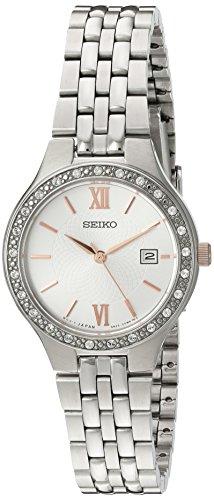 Seiko-sur759-da-donna-in-acciaio-inox-argento-Bracciale-Quadrante-Grigio