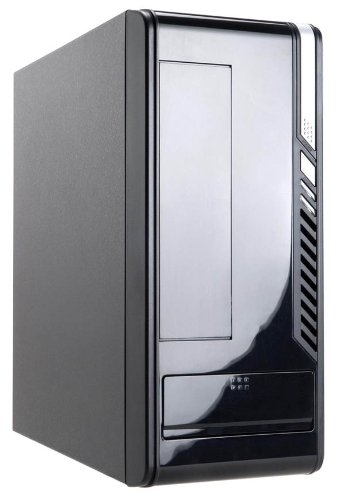 Inwin BM648 Black Mini ITX Computer Case with HD Audio connector  &  160W PSU Power Supply - Smart Compact PC Chassis perfect for the home or office