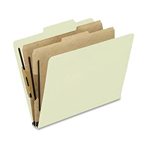 Pendaflex Pressboard Classification Folders, Letter Size, 6-Section, Lt Green, 10 per Box (1257G)