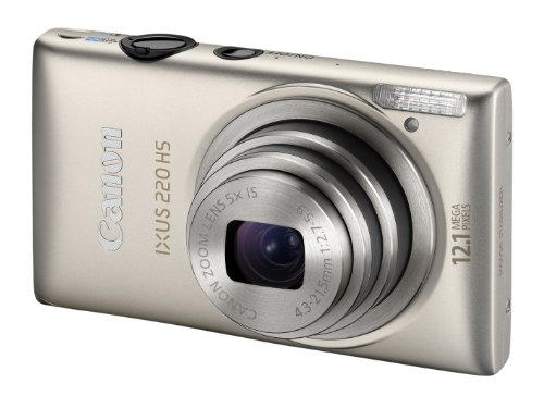 Canon IXUS 220 HS - Silver (12.1MP, 5x Optical Zoom) 2.7 inch LCD