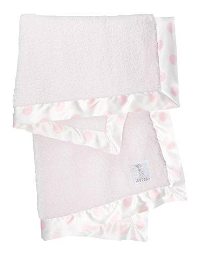 Little Giraffe Chenille New Dot Baby Blanket, Pink