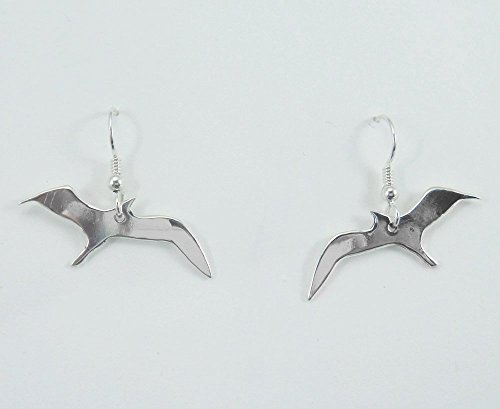 J Pool Wildlife Collection Handmade Sterling Silver Stylized Seagull Earrings