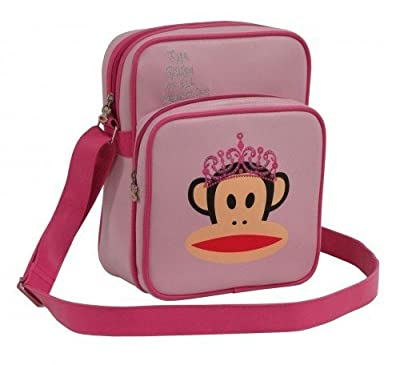 Paul Frank Julius Monkey Pink Princess Shoulder Flight Bag - Pink with pink trim