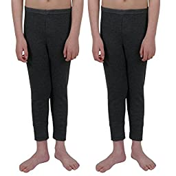 ETHO 2 Childrens/Boys Thermal Underwear Long Pants, Charcoal 12/13 Yrs