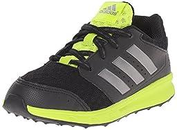 adidas Performance LK Sport 2 K Shoe (Little Kid/Big Kid),Black/Iron Metallic Grey/Semi Solar Slime,2.5 M US Little Kid