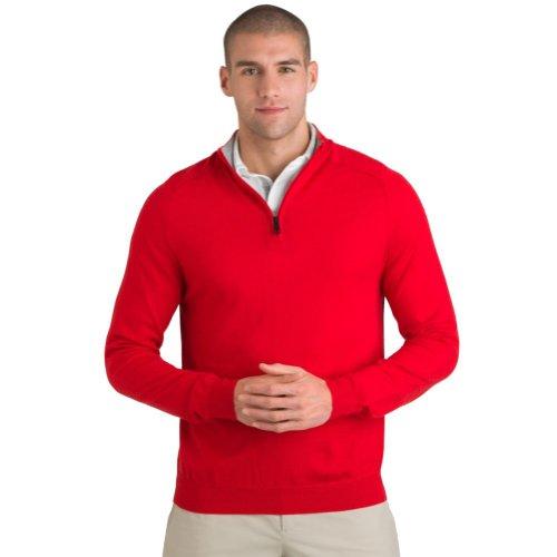 aquascutum-golf-mens-funnel-neck-half-zip-sweater-medium-red