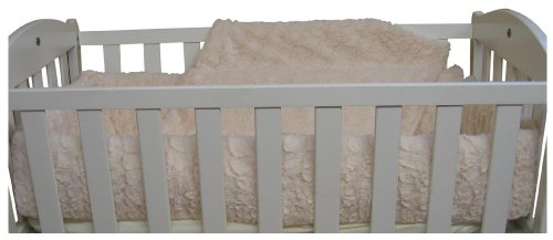 Baby Doll Bedding Sherling Port-a-Crib Bedding Set, Ivory