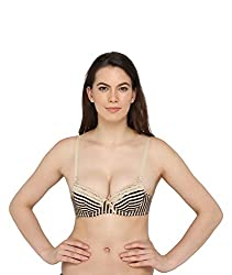 Vivity stripes Padded Women's Bra
