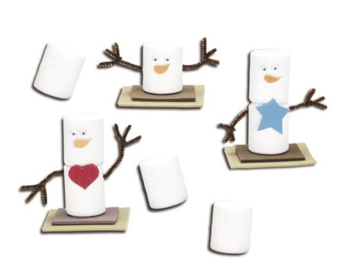 Darice Foamies 3D S'mores snowman Activity Craft Kit Bucket-makes 24 - 1