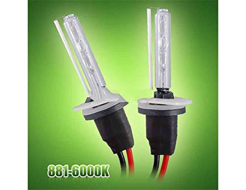 Generic 881 6000K Hid Xenon Super Vision Light Bulbs Lamp Kit For Auto Car (Black)