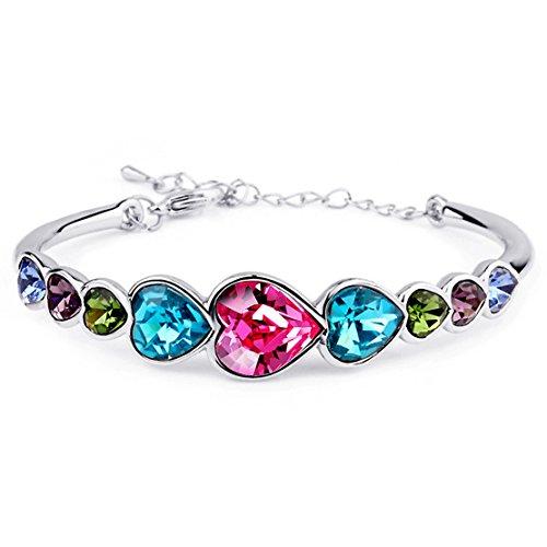IXIQI gioielli color cristallo regolabile braccialetti per donne con scatola regalo