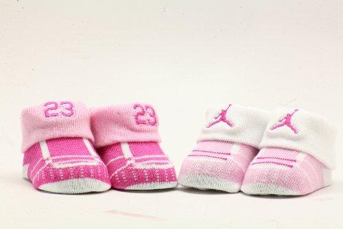 Nike Michael Jordan Infant Baby Girls Pink/White Booties 0-6 month