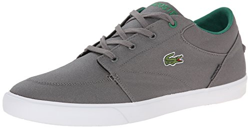 Lacoste Men's Bayliss Fashion Sneaker, Dark Grey/Green, 10.5 M US