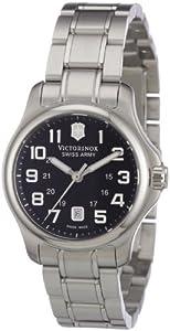 Victorinox Swiss Army Women's 241456 Silver Stainless-Steel Swiss Quartz Watch with Black Dial