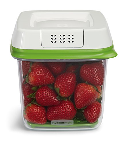 Rubbermaid FreshWorks 6.3 Cup Medium Produce Saver Food Storage Container, Green (Medium Rubbermaid Containers compare prices)